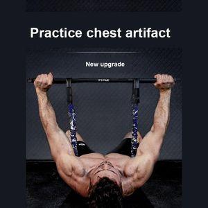Press Stretcher Chest Expander Bench Press Elastic Belt Push Chest Trainer Muscle Training Fitness Equipment Set