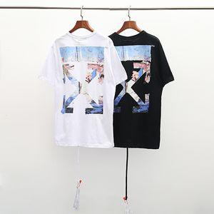 Pittura a olio Arrow Trend Hip hop Cotton manica corta T-shirt da uomo Estate T-shirt da uomo T-shirt da uomo T-shirt da uomo X1214