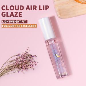 Cores espelho gelo vidro labelo brilho transparente glitter lantejoulas hidratando alimentos pump batom