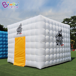 شخصية 4.6x4.6x3.6 متر نفخ مكعب خيمة / نفخ خيمة مكعب أبيض / نفخ الإعلان سرادق اللعب الرياضية