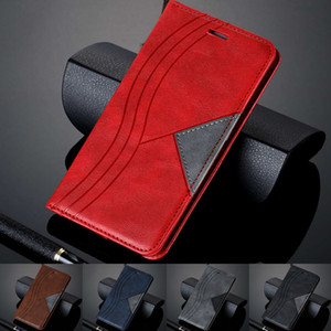 Mixed Splice PU Leather Case For Huawei P20 P30 Mate 30 20 Lite Pro Y7 Y6 Pro P Smart 2019 Plus Flip Wallet Case Phone Cover