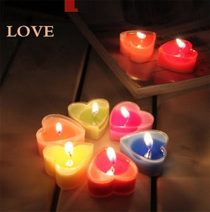 2021 Valentine's day Romantic scented Loves candle Delicate expression heart candle Wedding Decorative Peach heart candle FF591