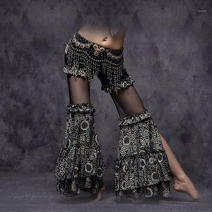 Bauchtanz American Tribal Stil Dancewear Frauen Gypsy Dance Hohe Taille Flare Hose Yoga Hosen Damen Bauchtanz Pants1