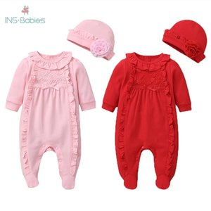 Baby Girl Romper 3-18M Autumn Newborn Baby Clothes For Girls Long Sleeve pink baby Clothes for girls 2 pcs Jumpsuit outfits 201216
