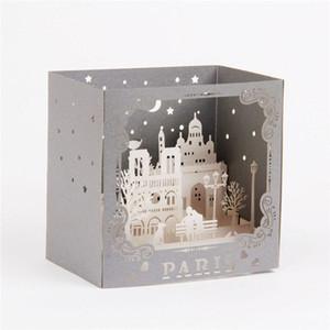 3d Laser Cut Handmade Carving Paris Model Paper Invitation Greeting Cards Postcard Business Creative Gift Souvenir Collection jllwzr