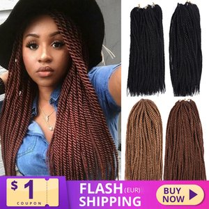 XCCOCO Hair 90 Roots Synthetic Senegalese Twist Hair Crochet Braiding 201g KaneKalon Fiber Crochet Hair Extensions For Women Q1127
