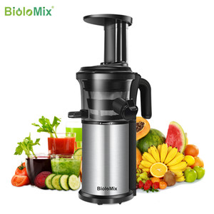 200W 40RPM Stainless Steel Masticating Slow Auger Juicer Fruit and Vegetable Juice Extractor Compact Cold Press Juicer Machine Y1201