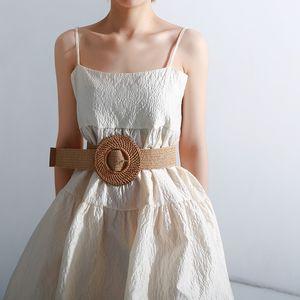 TWOTWINSTYLE Elastic Waist Belt Female Striped Belts For Women Vintage Dresses Accessories Fashion New Tide Summer 201120