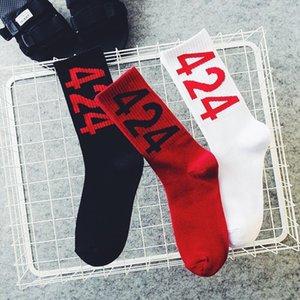 Europe and America Tide Digital Socks 424 skateboard Socks Cotton Sock Hood Harajuku Street Men and women Lovers