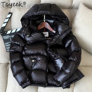 Veste d'hiver Tcyeek Femmes Nouveau manteau d'hiver épais femme chaude femme veste à capuche à capuche courte courte manteaux LWL1116 201214