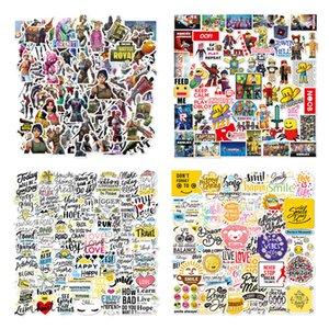104pcs Lot Fort night Stickers DIY Toy Luggage Motor Car Suitcase Laptop Skateboard Graffiti Waterproof Cartoon Gaming Stickers 4 styles
