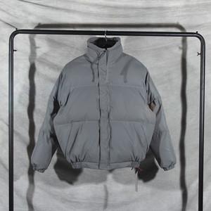 New Essentials Reflect Light Padded Jacket Oversized Winter Jacket Men Women Couples High Neck FOG Warm Bomber Jacket 201119
