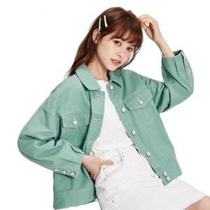 Denim jacket women 2020 spring autumn new short jacket female lapel retro cotton loose fashion demin coat for woman