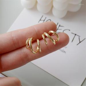 2020 fashionable women fashion curve geometric irregular U-shaped smooth earrings women's party accessories gift1