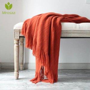 130cmx200cm Algodón Cashmere Crochet Nordic Manta Buena cubierta de sofá suave Manta de invierno Cama de invierno Ropa de cama Caliente suave Edredón Supplies1