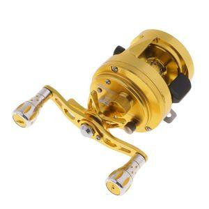 Dual Freni Fishing Reel Bait Casting Alluminio Trolling Bobina destra / a sinistra Trolling per la pesca
