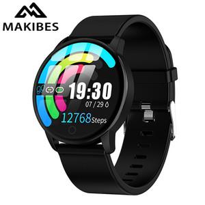 Makibeler T5 Pro Gelişmiş Milanese Manyetik Spor Izci Akıllı İzle Kan Basıncı Monitör Smartwatch Moda PK Q8 Bilezik 201123