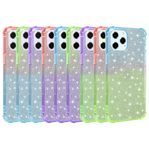 Shockproof Gradient Soft TPU Bling Glitter Sparkly Case For iPhone 12 11 Pro Max XR XS X 8 7 SE 2020 Samsung S9 S10 S20 Plus Note 20 Ultra