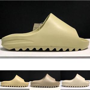 2020 Kanye Sand Bone Resin Desert Sand Designer Slippers Summer Fashion Earth Brown Flat Slide For Men Women