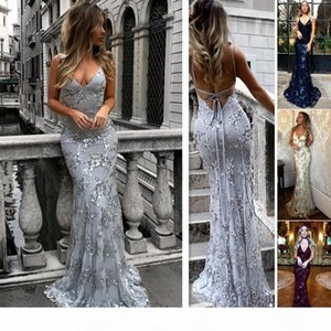 2019 new Womens Sexy V Neck Slim Fit Condole Belt Sequins sleeveless backless Party Evening Long Dress