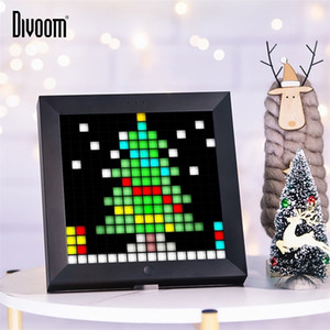 Divoom Pixoo Digital Photo Frame Alarm Clock with Pixel Art Programmable LED Display,Neon Light Sign for Christmas Gift & Decor 201211