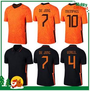 2020 Países Baixos Camisa de Jong de Ligt Strootman Van Dijk 2021 Homens adultos + Kit Kit Kit Football Jersey
