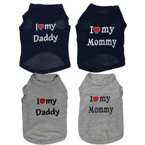 Güzel Babası Mommy Pet Köpek Giysileri Küçük Köpekler Için Yaz Köpek Giyim Yelek Yumuşak Gömlek Yorkie Chihuahua Kedi için Giysileri