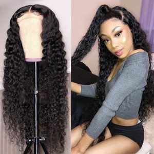 Deep Wave Wig Human Hair Wigs Curly Short Bob Brazilian For Black Women 13*4 Full Frontal Water Wave Wet And Wavy Lace Front Wig