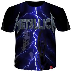 Metilla Rock Band T Shirts Men Women Music Band Fans Tee Shirt Cool 3d Print tshirt Steetwear HiP Hop Short Sleeve Summer Tops