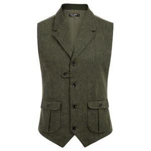 Men's Vest Coat Casual Stylish Notch Lapel Handkerchief Hem Vest Coat With Pockets Summer Autumn Formal Evening Short Coats Tops