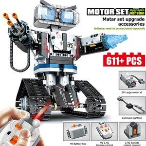 611pcs City Series Weapon Technic Blocks RC Robot Building Blocks Compatível Controle Remoto Robot Bloqueio Brinquedo Para Crianças 201211