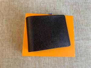 Cuir Véritable Classic Multiple Portefeuille Multiples Designers Hommes Courte Portefeuille Compact Porte-mouton Porte-mouton Portefeuille portefeuille avec boîte