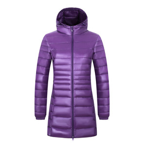 2019 New 6XL 7XL 8XL Plus Size Female Long Winter Ultra Light Down Women Hooded Feather Jacket Warm Coat