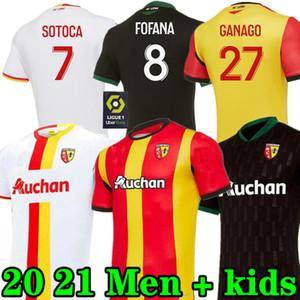 새로운 2021 rc 렌즈 멀리 축구 유니폼 졸업식 포트레스 Cahuzac Perez 2020 2021 RC 렌즈 마일 로트 드 발 Camisa de Futebol 남자 축구 셔츠
