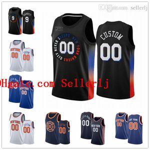 Пользовательский новыйЙоркКолебаниеМужчины RJ 9 Barrett 1 Obi Toppin Kevin 20 Knox Mitchell 23 Robinson Dennis 5 Smith Jr City Баскетбол Джерси