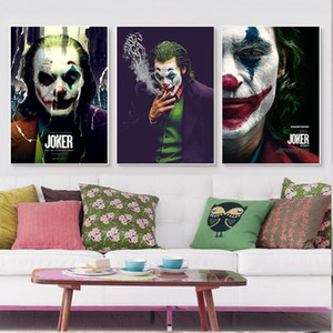 DC Comics The Joker Movie Poster Joaquin Phoenix Портрет живопись маслом на холсте Настенное искусство Фотографии для гостиной Украшения дома