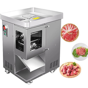500kg hNew Electric Meat Slicer Cutter Commercial Home Meat Slicing Machine Automatic Meat Cutting Mincing 220v