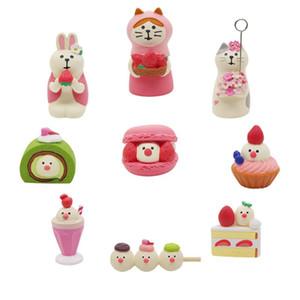 Pink Manbird клубника десерт для выпечки торт in in in кукла домик миниатюрный играть смола личности украшения