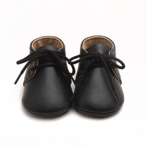 Fall Baby Shoes Newborn Toddler PU Leather Lace-Up Shoes Infant Boys Anti-slip Casual Sneakers