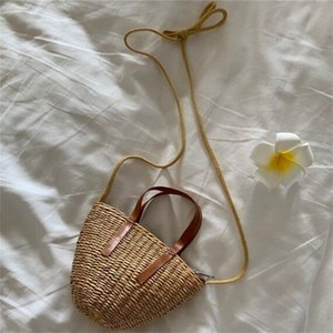Bag Girls Purse Tjjwd Straw Kid Rattan Handbag Beach Mini Handmade Bags Clutch Summer Baby Crossbody Children Hvtrf
