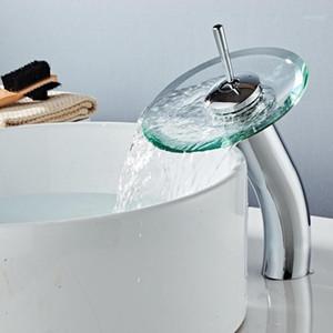 Alta Qualidade Sólida Banheiro Banheiro Cachoeira Bacia Mixer Torneira Torneira Chrome Polido Mixer Tap Torneira Frio Frio Faucet1