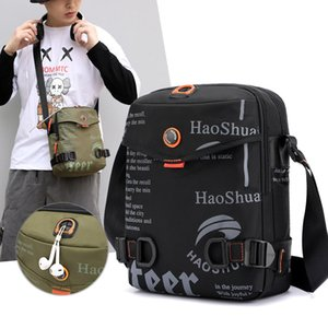 2020 Sling Shoulder Bag Messenger Crossbody Bag for Men Handbag Male Vintage Canvas Shoulder Black Travel Bags Fashion Soft Men