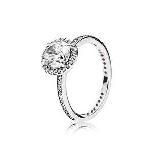 Real 925 Sterling Silver Cz Diamond Ring With Original Box Set Fit Pandora Style Wedding Ring Engagement Jewel wmtXZF dh_garden