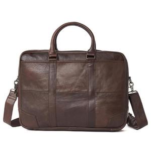 Boyir Retro Genuinde in pelle da uomo in pelle da uomo grande capacità vintage maschio business cartella borse per laptop da 15,6 pollici nuovo stile