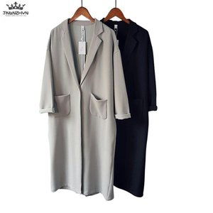 tnlnzhyn 2020 nova primavera verão mulheres fina trench casaco solto casual manga comprida windbreaker casaco médio longa outerwear y1051