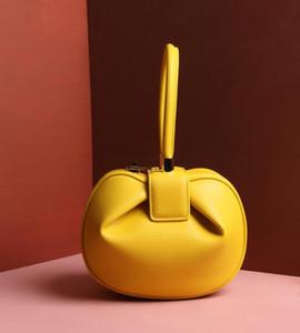 Celebrity Wonton Nina Demi-Tasche Echtes Leder Paris inspirierte Handtaschen Frauen Top Griff Tasche Tote Geldbörse
