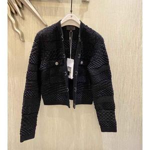 Cosmicchic 2020 Herbstgestrickte Pullover Jacke Black Cashmere Cardigan Frauen Dicke Warme Langarm Strick Weave Kurze Jacke Tops