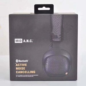 Auriculares ANC auriculares MID Auriculares de cancelación activa con deportes Bluetooth Bass de profundidad DJ HIFI Estéreo inalámbrico auricular en la oreja