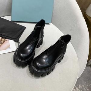 2021 Дизайнерские Женщины Университет Ботинки Обувь Мода Кожаные и Нейлон Мартина Сапоги для Женщин Наружная Вечеринка Обувь Высокое качество с коробкой