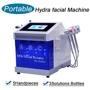 Dermabrasion Hydrafracial Machine Diamante Microdermoabrasione Uso Home Uso Ossigeno Jet Peel Bio-Sollevamento Ultrasuoni Pulizia della pelle di pulizia della pelle